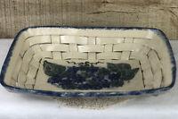 Bujno Pottery Woven Bread Basket Plate Lancaster PA pottery 2003