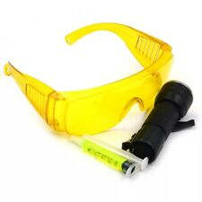 A/C System Leak Test Detector Kit Flashlight Protective Glasses UV Dye Tool Set
