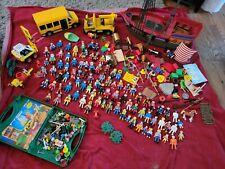 HUGE Playmobil Geobra LOT 1974+ Pirate Bus Knights Construction Astronauts NICE