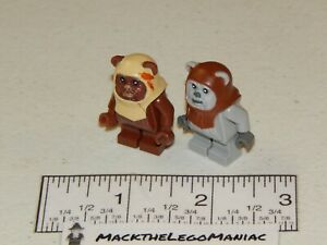 Authentic Lego Star Wars 8038 Ewok Paploo & Chief Chirpa Only sw0238 sw0236