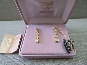 14K Solid Y. Gold BEVERLY HILLS GOLD Diamond Cut Earrings 2.5 Grams