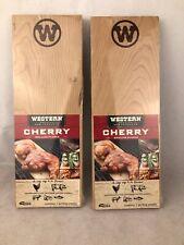 4 Western Premium BBQ Products Cherry Grilling Planks Seafood Chicken Pork NIP