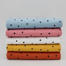 Ballotté Cœurs Doux Visage Popeline X 5 Fat Quarts Paquet - Coton Matériau