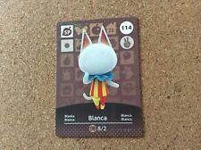 Animal Crossing Amiibo Card 114 Blanca