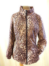 Hawke & co Leopard print lightly padded zip up front jacket coat size small