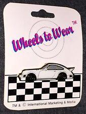 85 PORSCHE 930 TURBO * WHEELS TO WEAR * VINTAGE 1986 ENAMEL PIN NEW RARE #2