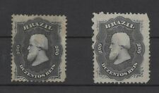 Brazil 1866 Dom Pedro II RHM: 28 and 28a