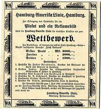 Hamburg-Amerika-Linie Plakat- Reklamebild Wettbewerb Preisrichter...Werbung 1907