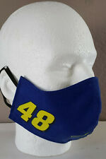 Jimmie Johnson Blue 48 Nascar Licensed Fabric FaceMask Face Mask Covering
