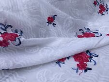 Broderie Anglaise on cotton lawn, 'Emily G', (per metre) dress fabric