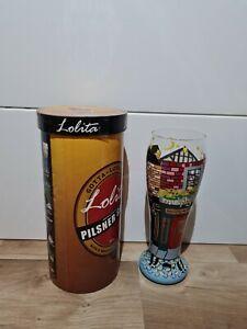 "Lolita Hand Painted Pilsner Glass ~ ""Pub Crawl"" ~ 22 oz Pilsner Glass"