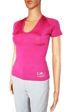 Womens New Vtg 90s BYBLOS Cerise Beads Stretch Top Blouse Short Sleeve sz S АN17