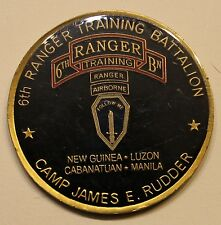 6th Airborne Ranger Training BN Camp James E. Rudder Eglin Army Challenge Coin