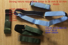 STRONG Hook Loop ADJUSTABLE STRAP BUCKLE CABLE LUGGAGE TIE Wrap Reusable - Pair