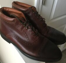 Johnston & Murphy Made in Italy 11.5 M men's brown leather boots