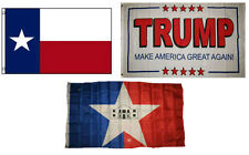 3x5 Trump White #2 & State Texas & City San Antonio Wholesale Set Flag 3'x5'