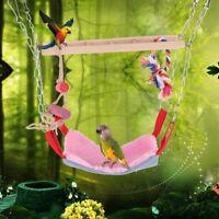 Pet Bird Parrot Swing Harness Hammock Hanging Nest Bed Toys Parakeet Cockatiel