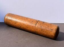 Étui tube en bois - objet ancien début 20e siècle