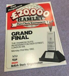 1982 Darts Programme Hamlet Pairs Tournament Grand Final + Bristow & Lazarenko