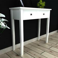 Elegant Wooden Hallway Bedroom Console Side Dressing Table with 2 Drawers White