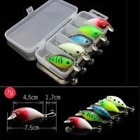 5pz Esche Artificiali Per Pesca Minnow Fishing Lures Crankbait + Scatola