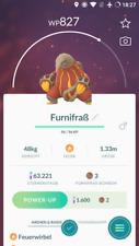 Pokémon Go Account mit regionalem Pokémon Furnifraß  Heatmor