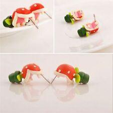 Jewelry Xmas Gift Polymer Clay Piranha Flower Earrings Ear Stud