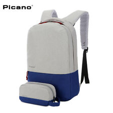 Picano 15.6'' Waterproof Anti-theft Laptop Notebook Backpack Bag USB Charge Port
