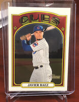 2021 Topps Heritage Chrome White Parallel JAVIER BAEZ Chicago Cubs SP /999 #51