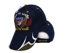 Ride To Live Live To Ride USA Eagle Dark Navy Blue Baseball Ball Cap Hat