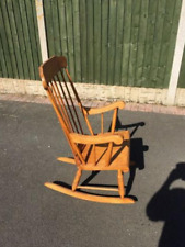 used wooden rocking chair brown