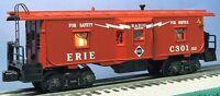LIONEL 6-19742 ERIE CREWTALK BAYWINDOW CABOOSE TMCC (1998) LTI C10 W/BOX