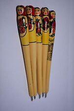 5x Wood Pens Russian Souvenir Matryoshka Babushka Hand Painted Deal