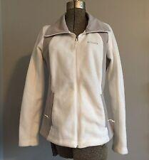 Columbia Woman's Sugarcreek III Fleece Jacket Gray White Large a5