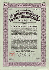 Original Germany Sterling Loan 1924 Bond 7/% UK GB issue £500 Daves coupons