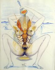 Salvador Dali, Original Engraving from Illustre Casanova, nude & lobster, OBO!