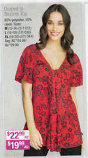 Tunic Floral V-Neckline Tops for Women