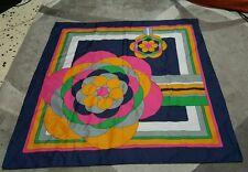 Trevira foulard 76x76 poliestere vintage geometric scarf square woman donna