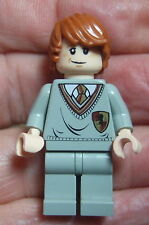 Lego HARRY POTTER MINIFIGURA: Ron Weasley. Gryffindor carne rosa doble expresión