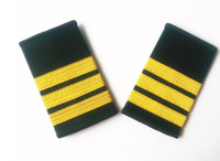 3 Bar Gold Airline Pilot Epaulets First Officer F/O Shoulder Boards Rank , USA
