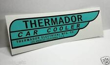 Thermador Car Cooler Sticker, RIGHT HAND DRIVE, evaporative swamp cooler decal