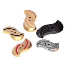 Mercerie lot de 5 boutons assortis en métal doré argenté noir et émaillé button