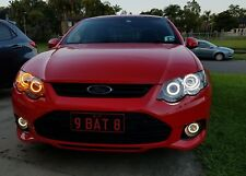 Ford Falcon FG XR6 XR8 MK2 headlightswith  halo rings