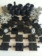 100 New Lego Lot Car Parts Wheels Tires Axles Rims Bricks 100 Pieces Small Truck