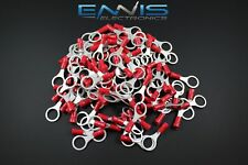 18-22 Gauge Vinyl Ring 3/8 Connector 25 Pk Red Crimp Terminal Awg Car Suv