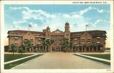 West Palm Beach FL South Inn c1920 Postcard