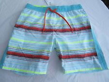 Boys Pumpkin Patch Bound Leg Multi Stripe trunks board shorts Size 12