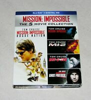 Mission: Impossible The 5-Movie Collection Blu-ray (1996-2015) FREE SHIPPING