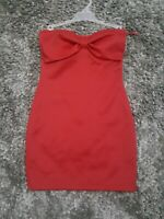 WET SEAL Red Dress Strapless Size M