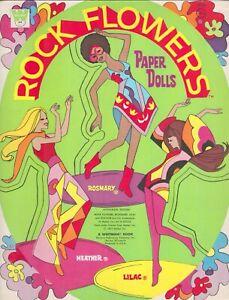 VINTAGE UNCUT 1972 ROCK FLOWERS PAPER DOLL HD LASER REPRODUCTION~LO PR NO1 SELR